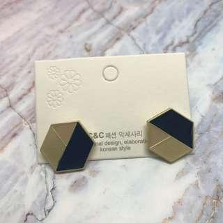 🚚 幾何多元素多邊形耳釘