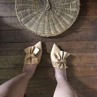 Nude color mules