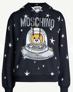 Moschino bear spaceship cotton hoody Moschino衛衣 女裝 全新 特價 衛衣 size UK4 現貨