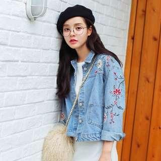 Floral Demin Jacket