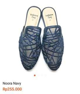 Flatshoes Mules Navy by Ballerina flats