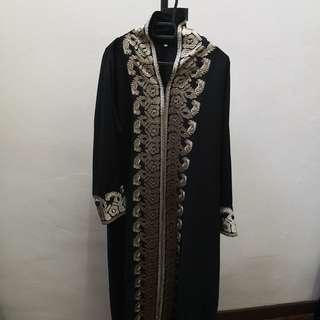 Abaya with heavy embroidery
