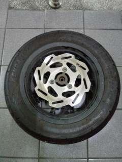 PGO X-HOT 12吋 前鋁圈(鋁框) 含碟盤輪胎