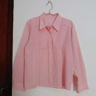 Striped pink shirts