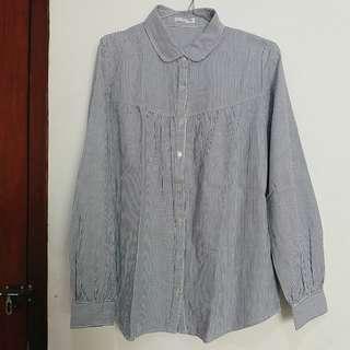 Striped blue shirts