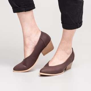Noeren Brown Heels by Adorable Projects