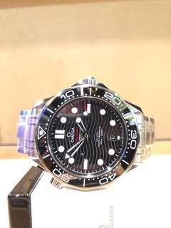 Brand New Omega Seamaster 300m 210.30.42.20.01.001 Black Dial Automatic Steel Casing Bracelet