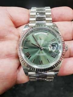 ROLEX Day Date President Annivesary Ed. White Gold Big Savings