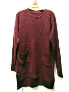 🚚 酒紅薄針織毛衣