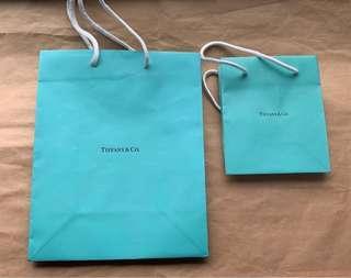正品 tiffany 手提袋 紙袋  兩個一起賣