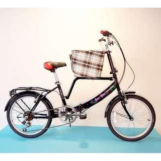 JY (豪華版) 20吋 6速  (小籃) 寵物自行車 SHIMANO (黑色) 拆掉籃子基座變淑女車 寵物籃 另可當親子車 (價格另計)