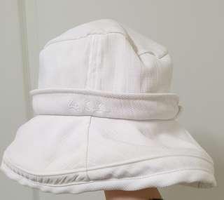 🚚 白色軟質遮陽帽