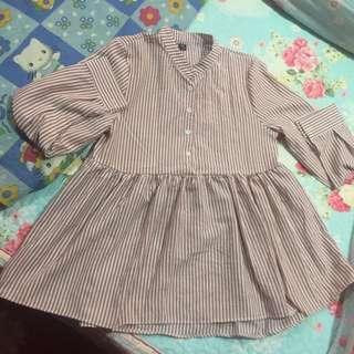 Stripes peplum blouse
