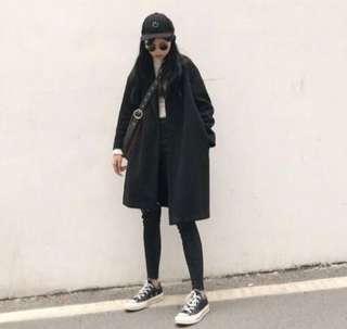 🚚 韓版長版顯瘦大衣