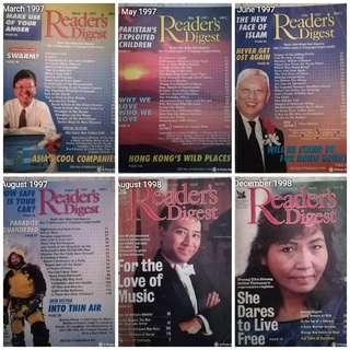 Reader's Digest 1997 & 1998 #MMAR18 #50TXT
