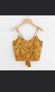 BNWT Yellow Floral Crop Top