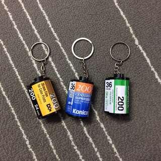 35mm Film Canisters Keychains