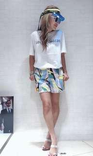 歐洲品牌 彩色印花短褲