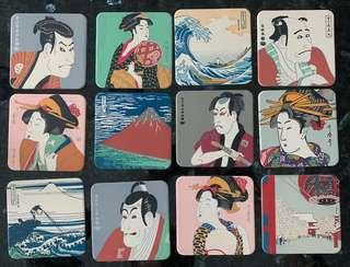 Ukiyoe coasters (Japanese fine art)