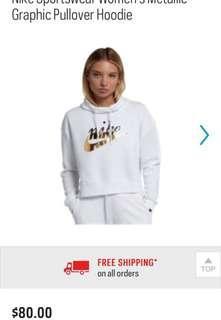 *BNWT* nike metallic hoodie
