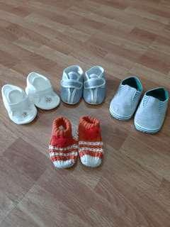Baby Shoes Bundle 4 pairs 3mo+ On Sale Now