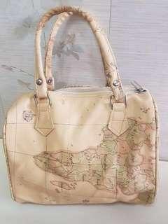 Geo classic world map bag / tas jinjing motif map 💯
