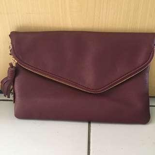 Maroon Clutch Bag