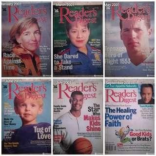 Reader's Digest 2001 #MMAR18 #50TXT