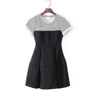 Bread n Butter Black & White Strip Dress 黑白連身裙