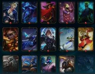 League of Legends Account 275 Skins