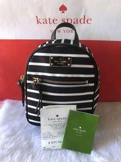 🚚 Kate Spade Mini Brad Stripes Backpack