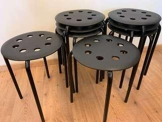 🚚 {Moving-out Sale!! $29.00 - 8pcs Ikea Stools