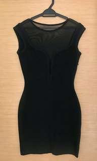 Herve Leger inspired body-con black dress