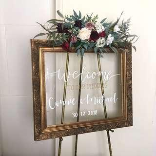 Wedding Welcome Sign With Hand-lettering