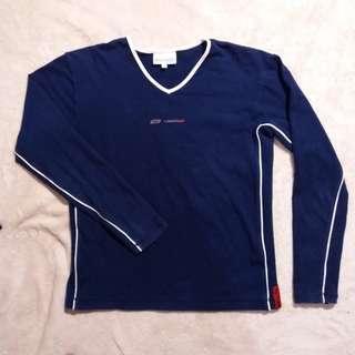 Body Suit Kaos Polos Olahraga Navy Reebok