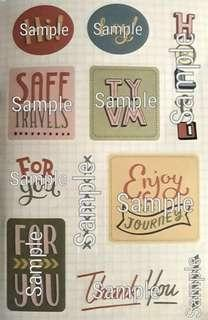 Typography Graphic Stickers I
