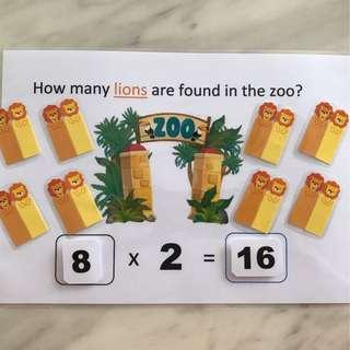 🚚 DIY Multiplication x2 🦁 🦁