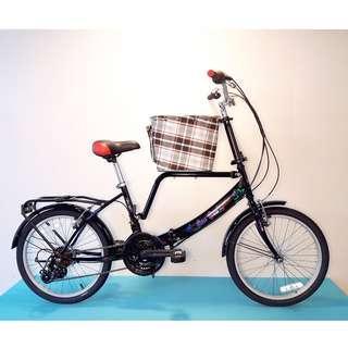 JY (豪華版) 20吋 21速 (小籃) 寵物自行車 SHIMANO (黑色) 拆掉籃子基座變淑女車 寵物籃 另可當親子車(價格另計)