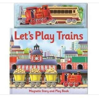 🚚 Magnetic lets play train set good travel holiday book interactive cognitive Montessori  pretend play story