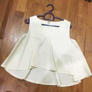 Cream Babydoll Top