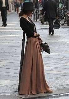 Flowy chiffon Maxi Skirt