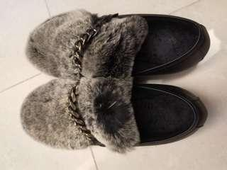 leather loafer 毛毛boots