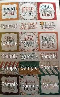 Typography Graphic Stickers III