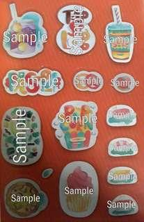 Worldwide Food & Drinks Graphic Stickers