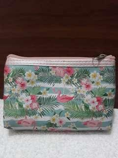 Flamingo make up accesories pouch