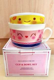 BNIB Limited Edition Cute Porcelain Cup and Bowl Set