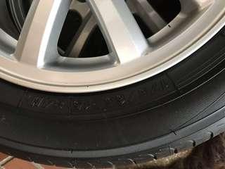 優克碼輪胎含鋁圈-4顆