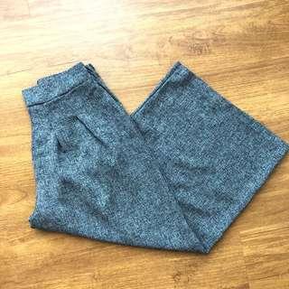Wide leg culottes pant (GREY)