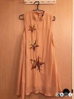 🚚 Peach star maternity dress
