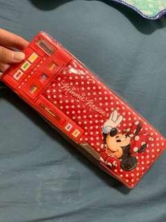 香港迪士尼 美妮 多功能 筆盒